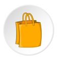 Bag with handles icon cartoon style vector image vector image