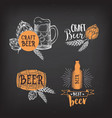 Beer restaurant cafe badges drink template design vector image vector image