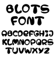 blots alphabet vector image vector image