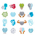 brain and intelligence icons or logos concepts vector image