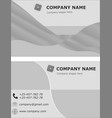 business card set template visit brochure green vector image vector image