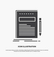 business document file paper presentation icon vector image