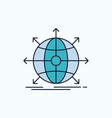business global international network web flat vector image