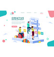 career application concept isometric vector image vector image