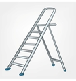 cartoon home ladder vector image vector image