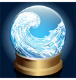 Caught wave vector image vector image