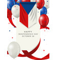 czech republic independence day greeting card vector image