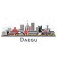 daegu south korea city skyline with color vector image