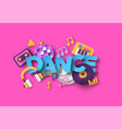 dance music style with 3d paper cut musical vector image
