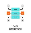 data structure icon vector image vector image