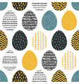 decorative seamless patterns with eggs vector image vector image