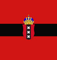 flag of amsterdam of netherlands vector image vector image