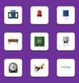 flat icon device set of recipient bobbin resist vector image vector image