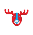 flat icon on white background Canadian moose vector image vector image
