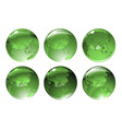 green globe icons vector image vector image