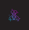 guard officer police policeman security user icon vector image