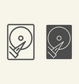 hard disk line and glyph icon storage vector image vector image