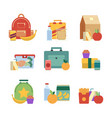 healthy lunch in plastic box lunchbox for kids vector image