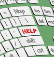 Help button on keyboard vector image vector image