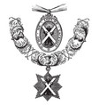 insignia of the order of the thistle is formed of vector image vector image