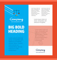 libra business company poster template with place vector image vector image