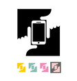 Logo Selfie Hands and phone vector image