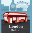 london red bus travel card flat style vector image vector image