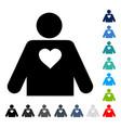 lover person icon vector image