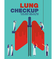 Lung checkup cover flat healthcare design vector image vector image