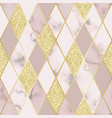 marble luxury geometric seamless pattern vector image vector image