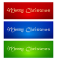 marry christmas banners vector image vector image