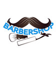 mustache for barbeshop symbol vector image vector image