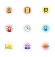 Partnership icons set pop-art style vector image vector image