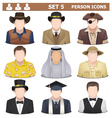 Person Icons Set 5 vector image