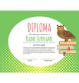 Preschool Elementary Kids Diploma certificate vector image