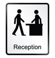 Reception Information Sign vector image vector image
