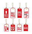 Retail tag Sale Best price Buy now Best offer vector image vector image