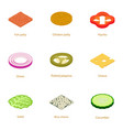 rifling icons set cartoon style vector image vector image