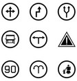 road sign icon set vector image