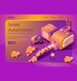 sales automation service web page template vector image vector image