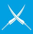 samurai swords icon white vector image vector image