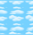 seamless background with clouds in blue sky vector image vector image