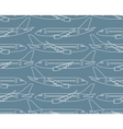 seamless pattern with airplanes profiles vector image
