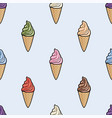 seamless pattern with icecream cones vector image vector image