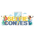 selfie contest flat style design vector image vector image