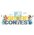 selfie contest flat style design vector image
