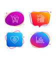 seo shopping loan percent and heart icons set vector image vector image