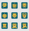set of different shield emblems vector image