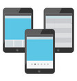 set of digital devices with tabs vector image vector image