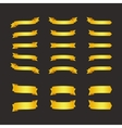 Set of golden ribbons on black vector image vector image
